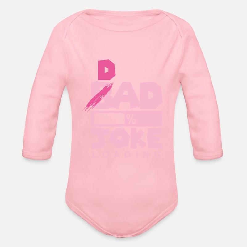 funny dad tees Organic Long Sleeve Baby Bodysuit - light pink