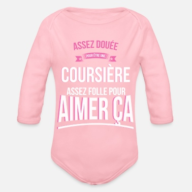 Courier Crazy Courier Crazy Woman Gift - Organic Long Sleeve Baby Bodysuit