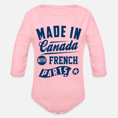 Canada Canadian French - Organic Long-Sleeved Baby Bodysuit