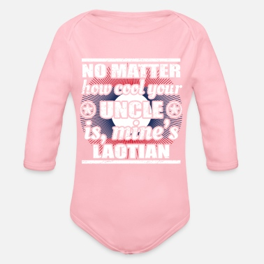 Laos no matter cool uncle onkel gift Laos png - Organic Long Sleeve Baby Bodysuit