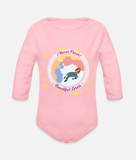 Wing Baby One Pieces - Hocus Pocus - Organic Long-Sleeved Baby Bodysuit light pink