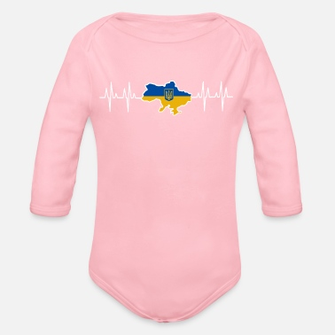 Ukraine Ukraine - Organic Long-Sleeved Baby Bodysuit