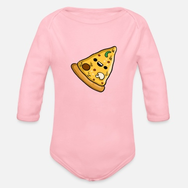 Pizza Pizza - Organic Long-Sleeved Baby Bodysuit
