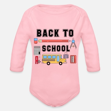 Back To School Back to School - Organic Long-Sleeved Baby Bodysuit