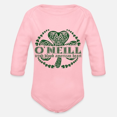 Surname irish family name surname o'neil - Organic Long-Sleeved Baby Bodysuit