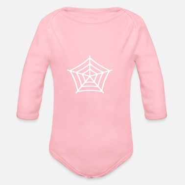 Web spider web - Organic Long Sleeve Baby Bodysuit