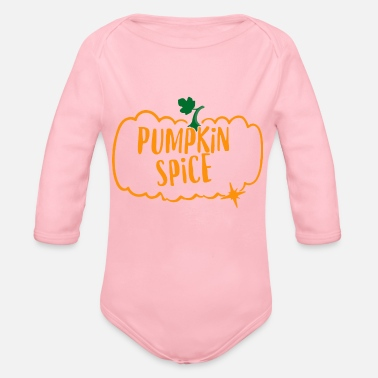Pumpkin Pumpkin Spice - Organic Long-Sleeved Baby Bodysuit