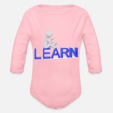Learning Learning - Organic Long-Sleeved Baby Bodysuit