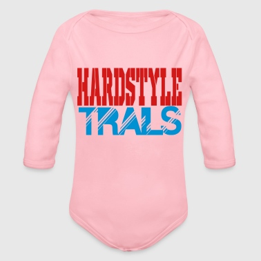 hardstyle trails - Organic Long Sleeve Baby Bodysuit