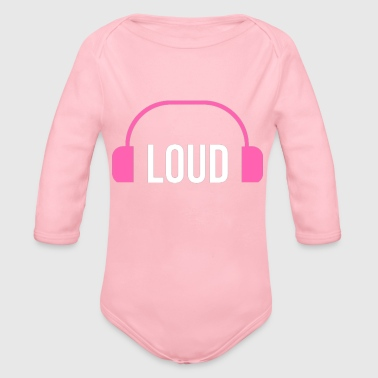 Loud loud - Organic Long Sleeve Baby Bodysuit