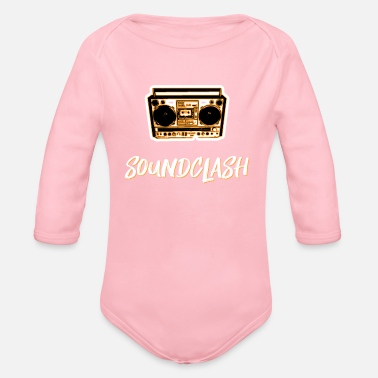 Dancehall soundclash dancehall reggae party - Organic Long-Sleeved Baby Bodysuit
