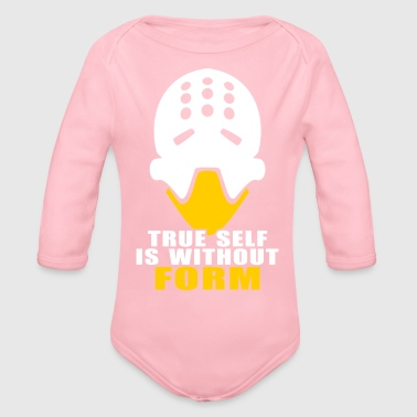 zenyatta true form is without form - Organic Long Sleeve Baby Bodysuit