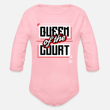 Court QUEEN OF THE COURT - Organic Long Sleeve Baby Bodysuit