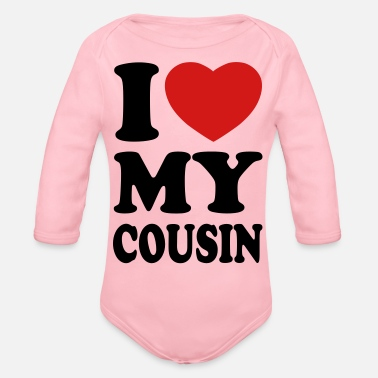 I Love Cousins I love my cousin - Organic Long-Sleeved Baby Bodysuit