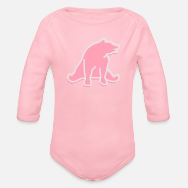 Mammal mammalian A Great Dark Bear - Organic Long-Sleeved Baby Bodysuit
