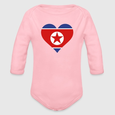 A Heart For North Korea - Organic Long Sleeve Baby Bodysuit