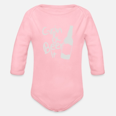Grin and Beer it - Organic Long-Sleeved Baby Bodysuit