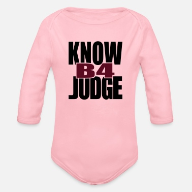 Tlc Know Before Judge - Organic Long-Sleeved Baby Bodysuit