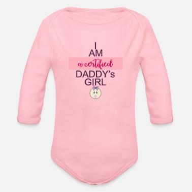 bc1015c6 Daddys Girl daddys girl - Organic Long-Sleeved Baby Bodysuit