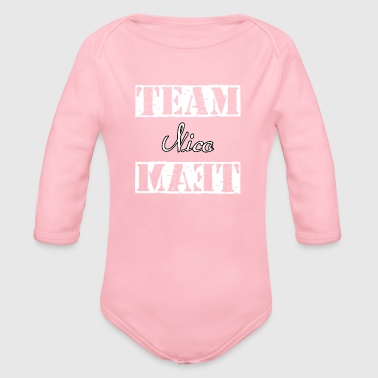 Team Nico - Organic Long Sleeve Baby Bodysuit