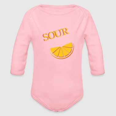 Sour & sour (2/2) - Organic Long Sleeve Baby Bodysuit