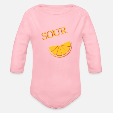 Sour Sour & sour (2/2) - Organic Long-Sleeved Baby Bodysuit