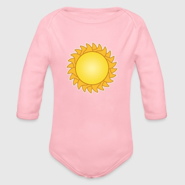sun sol sunset sundown sunbeams sunshine sunflower - Organic Long Sleeve Baby Bodysuit