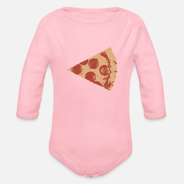 Salami SALAMI PIZZA - Organic Long Sleeve Baby Bodysuit