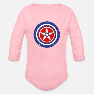5star-b - Organic Long-Sleeved Baby Bodysuit