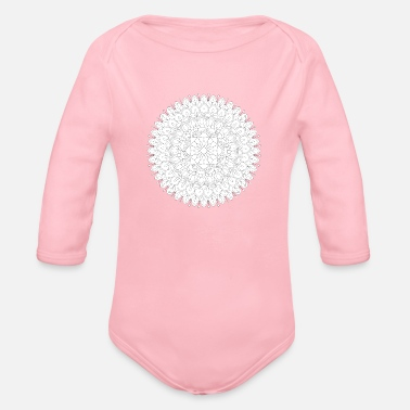 India Mandala vector tattoo. Perfect cards for any other - Organic Long Sleeve Baby Bodysuit