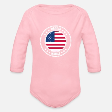 Mobile MOBILE - Organic Long Sleeve Baby Bodysuit