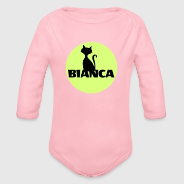 Bianca name first name - Organic Long Sleeve Baby Bodysuit