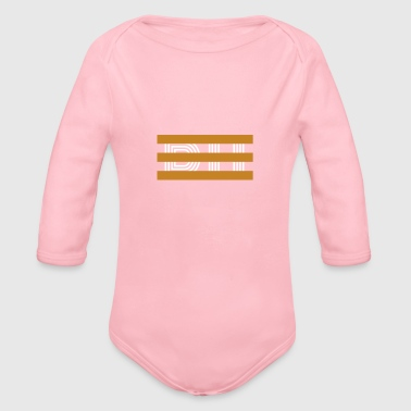 DH Gold Stripes - Organic Long Sleeve Baby Bodysuit