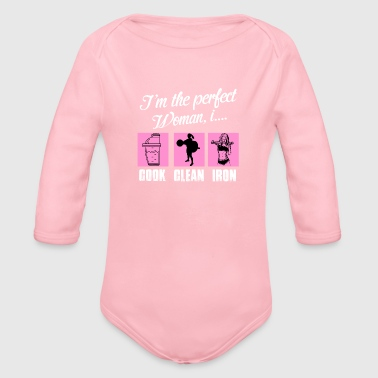 GYM - Organic Long Sleeve Baby Bodysuit