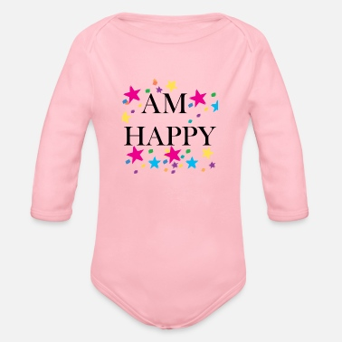 Hardcore AM HAPPY - Organic Long-Sleeved Baby Bodysuit