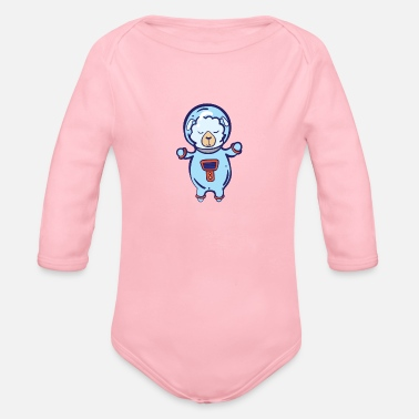 Spacesuit Sheep in spacesuit - Organic Long-Sleeved Baby Bodysuit