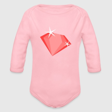 Rubin ruby diamond - Organic Long Sleeve Baby Bodysuit