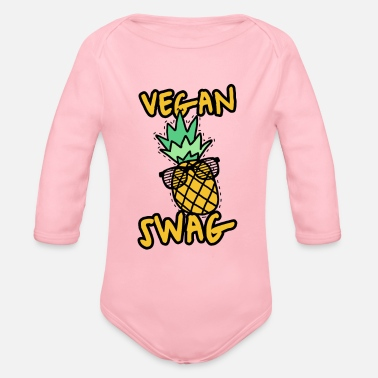Swag vegan swag - Organic Long-Sleeved Baby Bodysuit