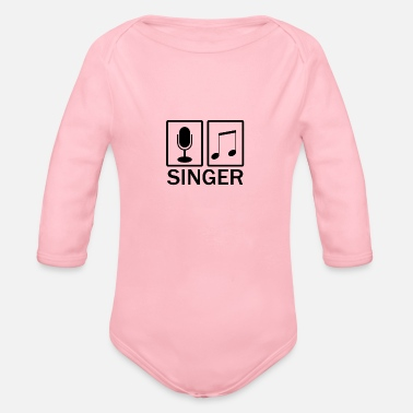 Singer singer - Organic Long-Sleeved Baby Bodysuit