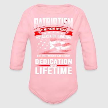 Patriot PATRIOTISM - Organic Long Sleeve Baby Bodysuit