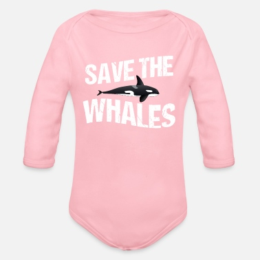 Save The Whales Save the Whales - Organic Long Sleeve Baby Bodysuit