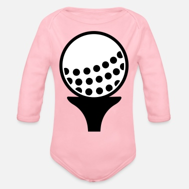 Ball Golf ball - Organic Long Sleeve Baby Bodysuit