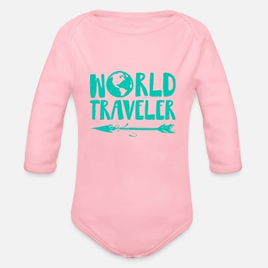 Travel Bug World Traveler - Organic Long-Sleeved Baby Bodysuit