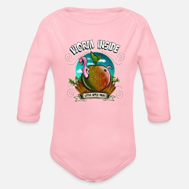 Lurch Worm inside, There's the worm in the apple - Organic Long Sleeve Baby Bodysuit
