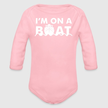 On A Boat - Organic Long Sleeve Baby Bodysuit