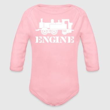 Engine Driver Steam Train - Organic Long Sleeve Baby Bodysuit