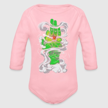 Smoking - Organic Long Sleeve Baby Bodysuit