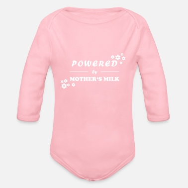 Milk Powered by Mother's Milk - White Edition - Organic Long-Sleeved Baby Bodysuit