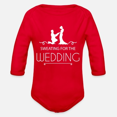 Bride Bride Groom Gift Sweating For The Wedding - Organic Long-Sleeved Baby Bodysuit