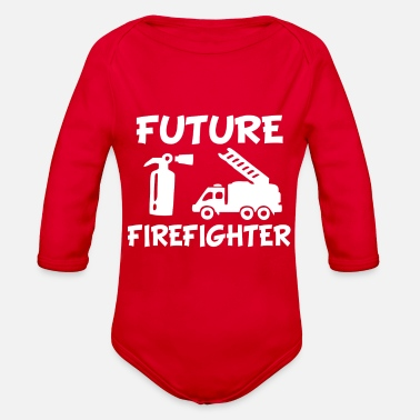 Fire Fighter Future Fire fighter baby shirt - Organic Long-Sleeved Baby Bodysuit